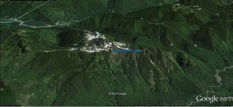 Google Earth view of White Chuck Mountain looking ENE.